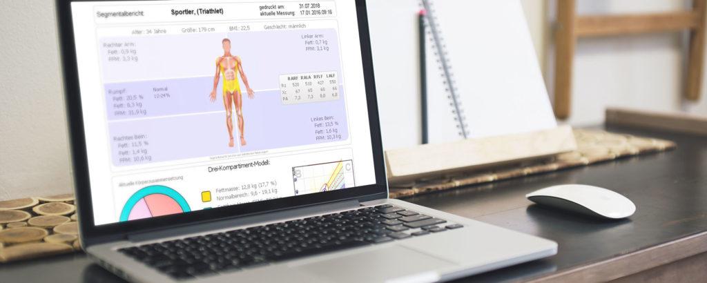 Laptop mit BIA Messung