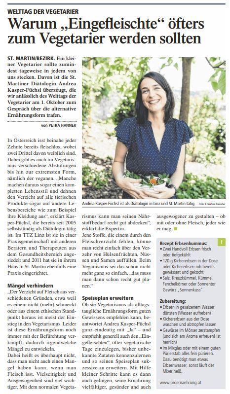 Artikel Tipps Andrea Kasper-Füchsl Vegetarier Tag