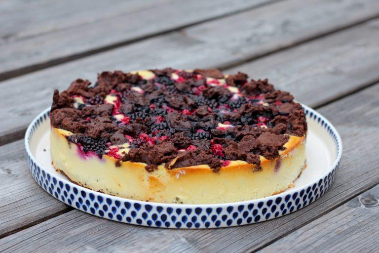Schokoladige Beeren-Topfen Tarte