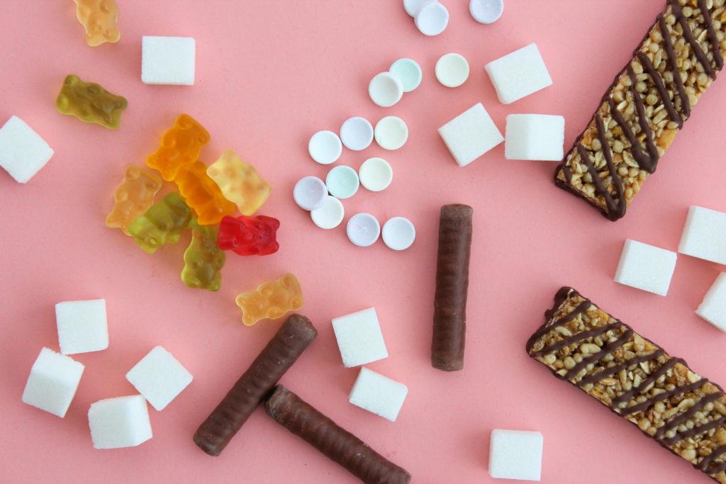 Zucker in Süßigkeiten