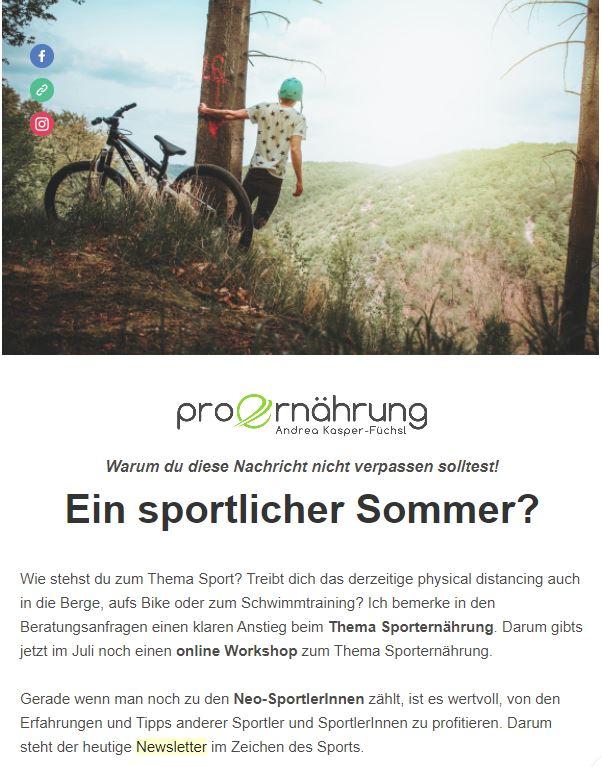 Newsletter Sport