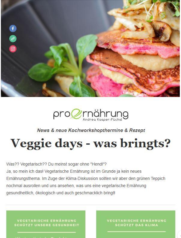 Newsletter Veggie