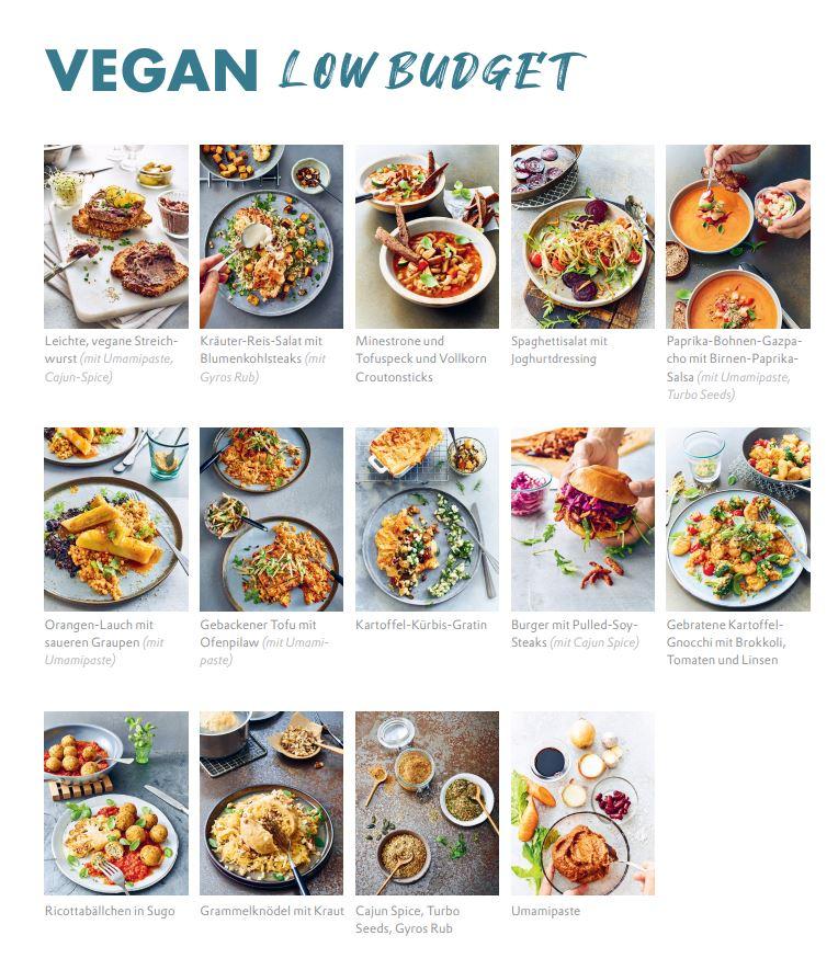 Rezeptübersicht vegan low budget