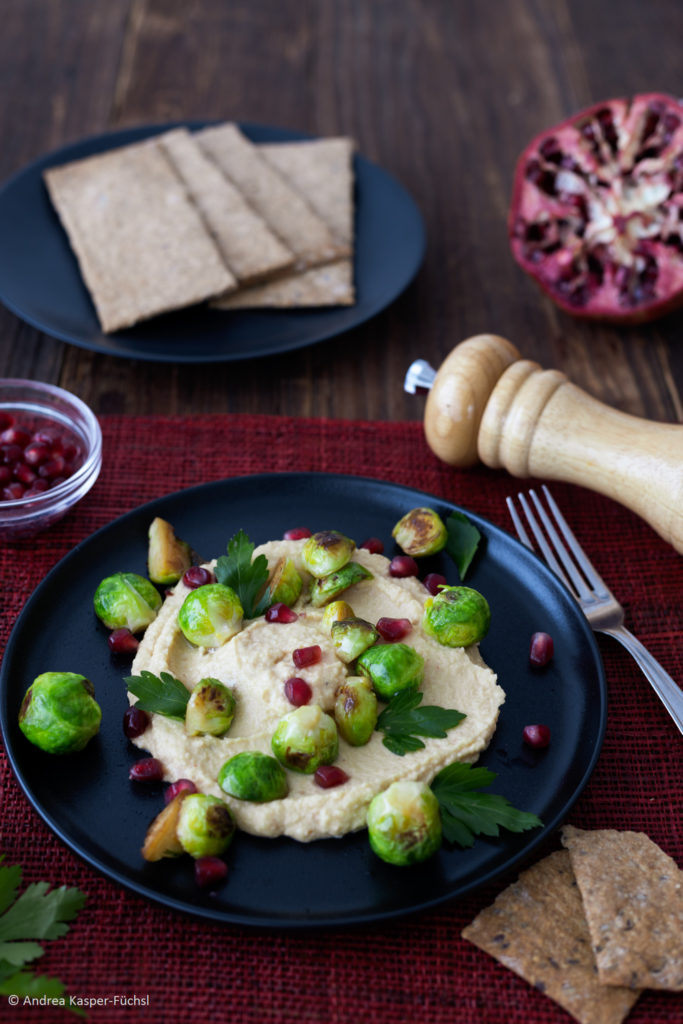 Hummus, Kohlsprossen Hochformat