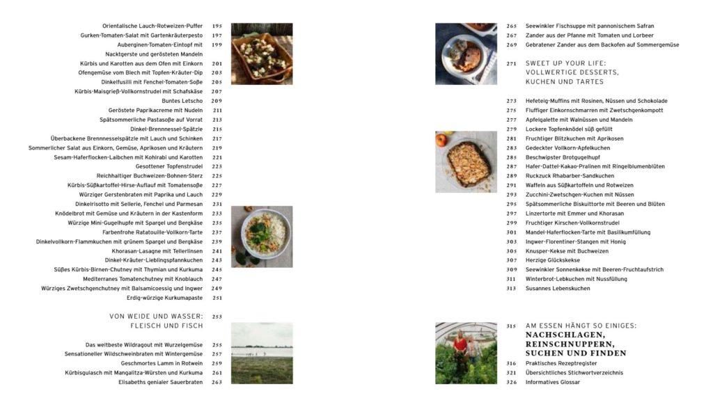 Inhaltsverzeichnis Rezepte für eine gute Zeit 3