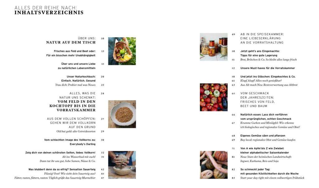 Inhaltsverzeichnis Rezepte für eine gute Zeit