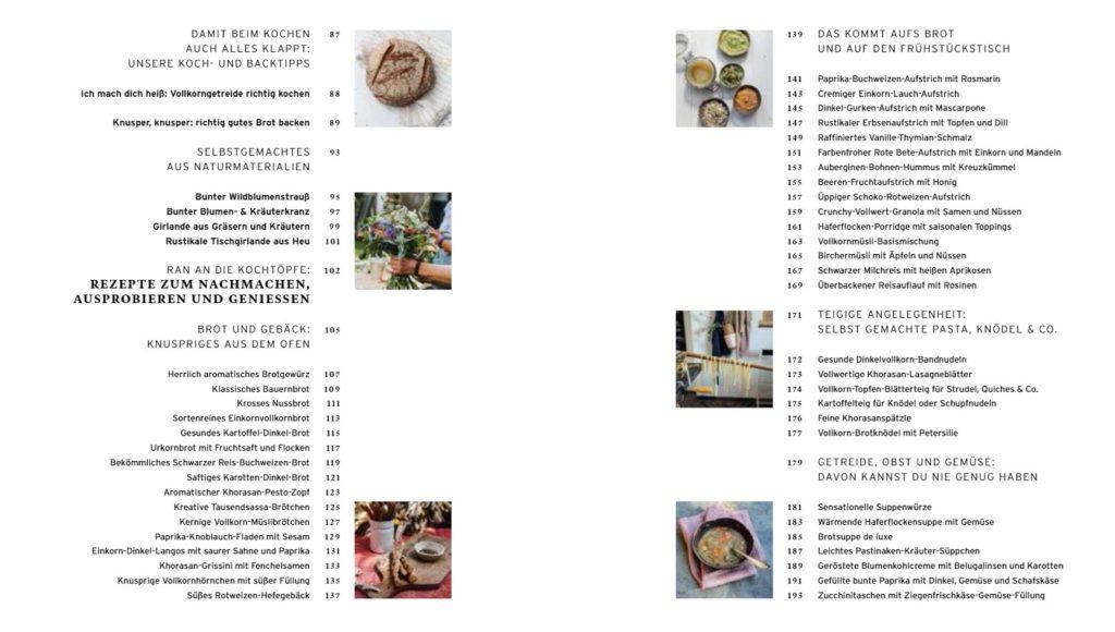Inhaltsverzeichnis Rezepte für eine gute Zeit 2