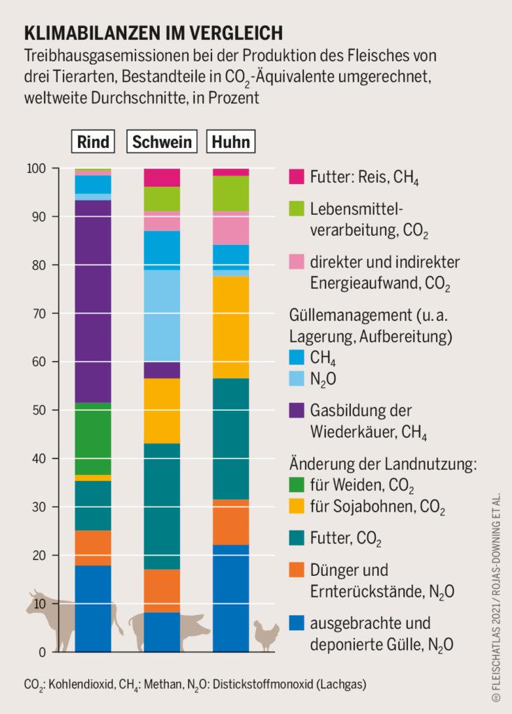 Klimabilanz Fleischsorten