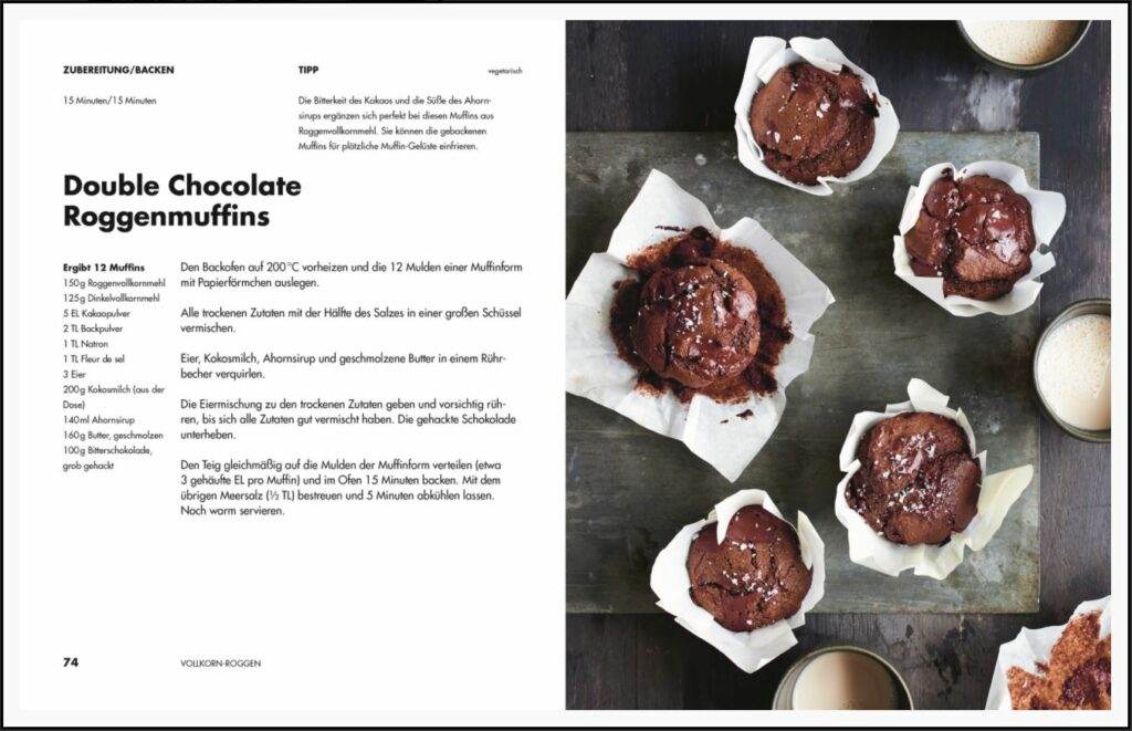 Rezept Muffins - Volles Korn