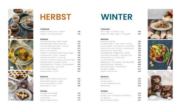 Inhaltsverzeichnis Herbst-Winter - Genussvoll die Welt retten
