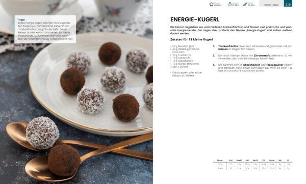 Energie Kugerl - Auszug Kochbuch Genussvoll die Welt retten
